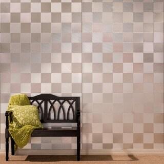 Fasade Quattro Brushed Aluminum Wall Panel (4' x 8')