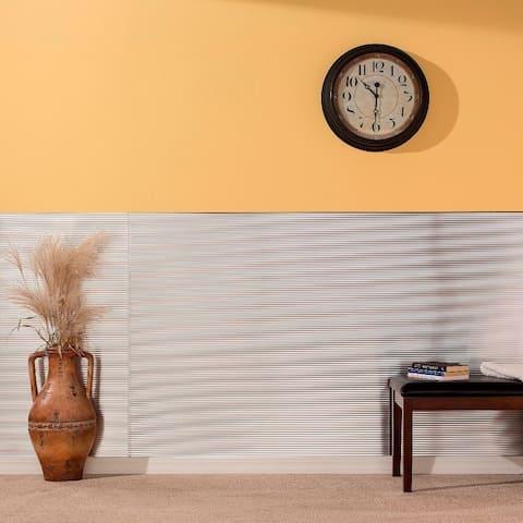 Fasade Rib Brushed Aluminum Wall Panel (4' x 8')