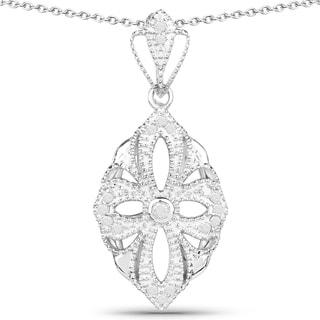 Olivia Leone 14k Goldplated Sterling Silver 1/3ct TDW Diamond Cross Pendant (I-J, I2-I3)