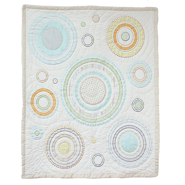 Nurture Imagination Heavenly Spheres and Cosmic Dots Baby Quilt