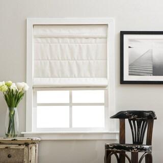 Arlo Blinds Ivory Room Darkening Cordless Lift Fabric Roman Shades