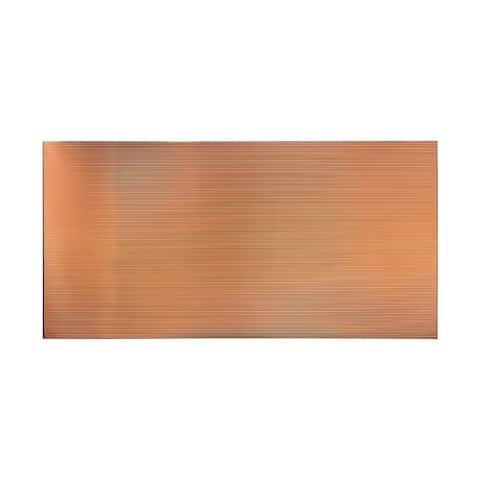Fasade Rib Polished Copper Wall Panel (4' x 8')