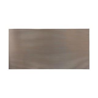 Fasade Rib Brushed Nickel Wall Panel (4' x 8')