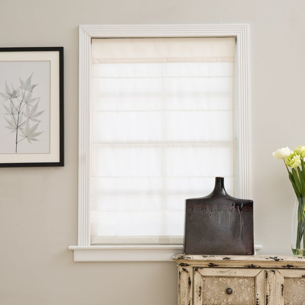 Arlo Blinds Ivory Cordless Fabric Roman Light Filtering Shade