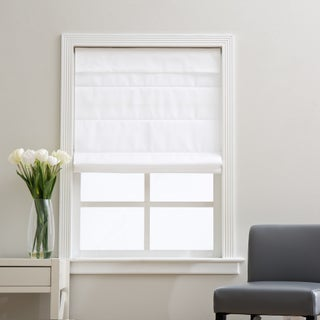 Arlo Blinds Cloud White Cordless Fabric Roman Light Filtering Shade (More options available)