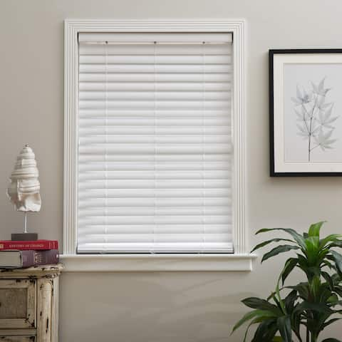 Arlo Blinds Cordless 2-Inch S Wave Venetian Faux wood Blind