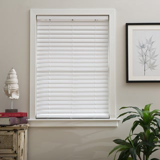 Arlo Blinds White Faux Wood 2-inch Cordless Blinds