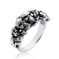 Handmade Ominous Pirate Skull and Crossbones .925 Sterling Silver Ring (Thailand)