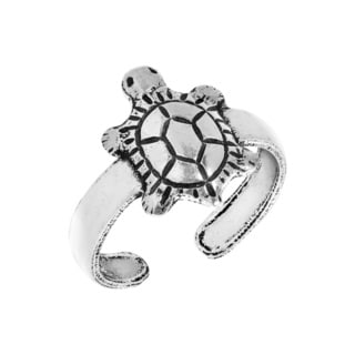 Handmade Baby Turtle .925 Sterling Silver Toe or Pinky Ring (Thailand)