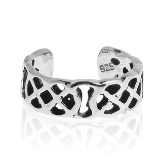 Simple Celtic Weave Knot Sterling Silver Pinky or Toe Ring (Thailand)