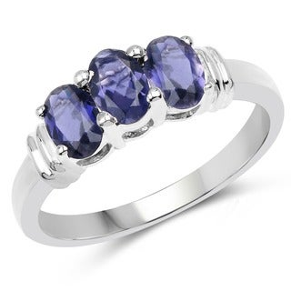 Olivia Leone Sterling Silver 1 1/4ct Iolite Ring