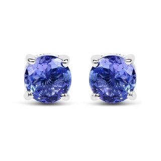 Olivia Leone Sterling Silver 1ct Tanzanite Earrings