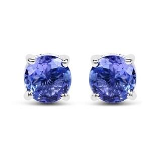 Olivia Leone Sterling Silver 1ct Tanzanite Earrings