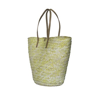Barielly Yellow Palm Leaves Tote Handbag (India)