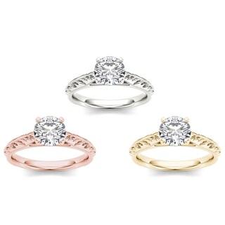 De Couer 14k Gold 1ct TDW Diamond Engagement Ring