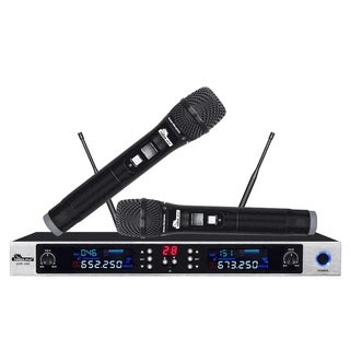 IDOLpro UHF-390 Pro Advanced Karaoke Voice Enhanced Dual Wireless Microphone System