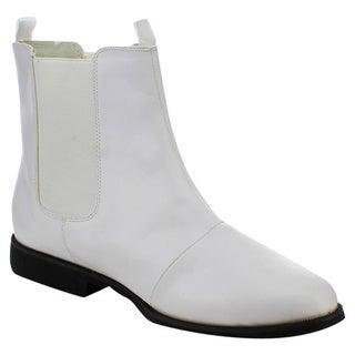 Funtasma Trooper-12 Men's 1-Inch Flat Heel Pointed Toe Pull-On Chelsea Boots