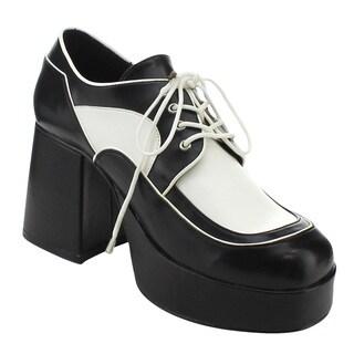 Funtasma Jazz-04 Men's 3.5 Inch Block Heel Platform Two Tone Oxford Shoes