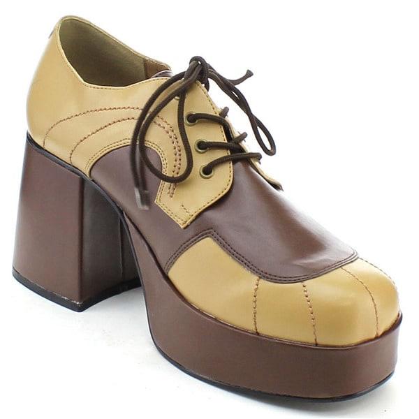 Funtasma Jazz-06 Men's 3.5 Inch Block Heel Platform Two Tone Oxford Shoes
