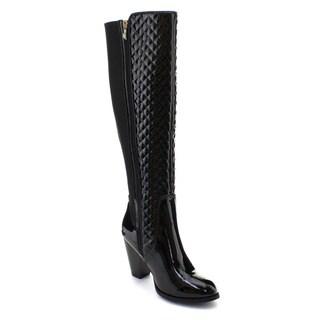 DBDK Women's Quilted Elastic Side Zip Waterproof Boots