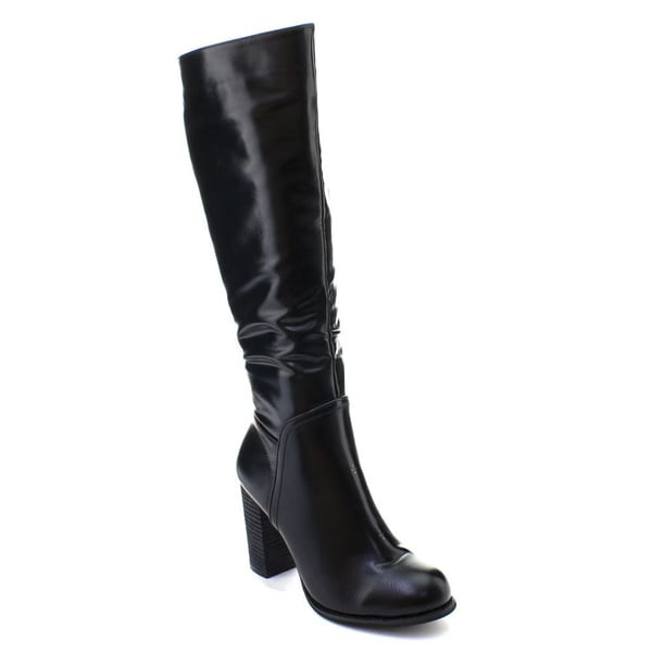 268ab579075a Shop DBDK Women's Side Zip Knee High Riding Boots - Free Shipping ...