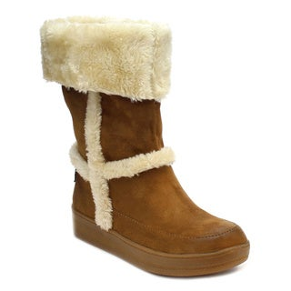 MI.IM MARSHMELLOW-04 Women's Soft Faux Fur Slip On Casual Boots