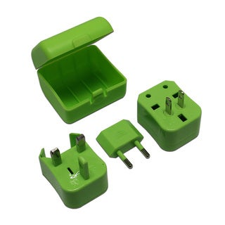 MaximalPower Green Universal Travel Power Outlet Adapter