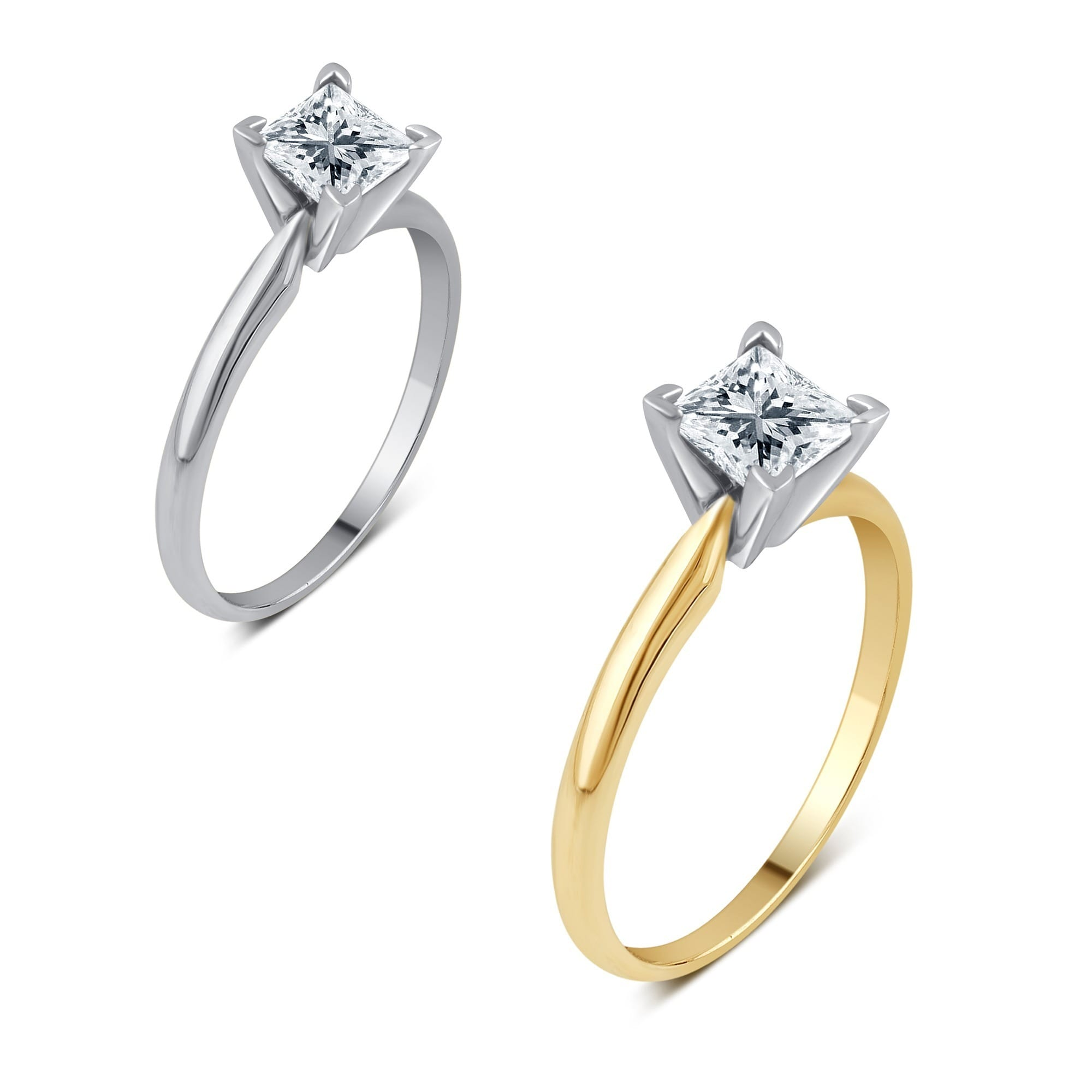 Jewelry & Watches 18k Yellow Gold Solitaire Accented Diamond Ring Anniversary Vvs2 D 1.35 Carat Hot Sale 50-70% OFF