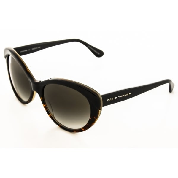 86a8dd9066 Shop David Yurman Women s Floating Logo Dy079 Brown Gradient Sunglasses -  Free Shipping Today - - 10532997