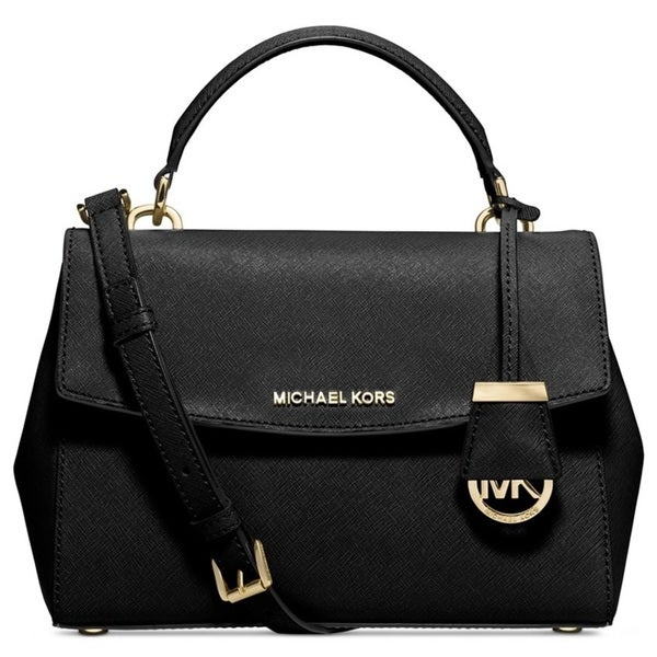 2fc57955200c Shop Michael Kors Ava Black Small Saffiano Top Handle Satchel ...