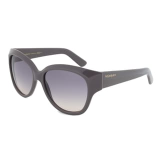 Yves Saint Laurent YSL 6359/S I1DPG Oval Sunglasses with a Grey Frame and Grey Graident Lens