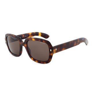 Yves Saint Laurent YSL 6324/S 05LEJ Square Sunglasses, Dark Havana Frame, Brown Lens