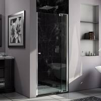 DreamLine Allure 37 to 38 in. Frameless Pivot Shower Door, Clear Glass Door