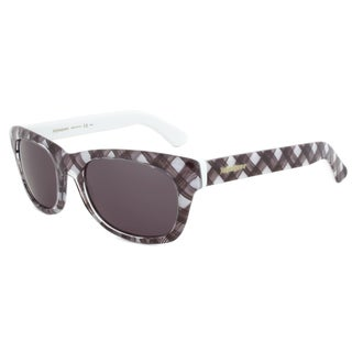 Yves Saint Laurent YSL 2321/S IS8R6 Wayfarer Sunglasses with a Tartan Frame and Grey Lens