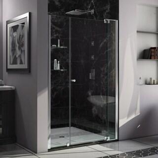 DreamLine Allure 45 to 46 in. Frameless Pivot Shower Door, Clear Glass Door