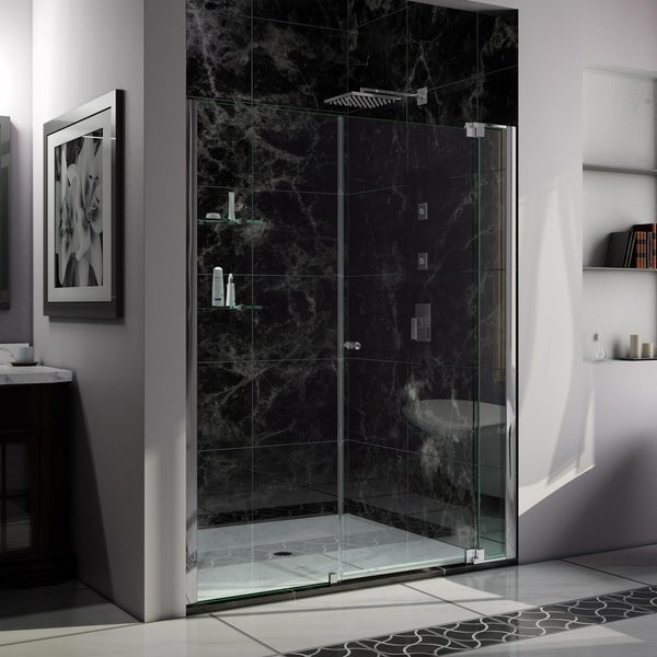 DreamLine Allure 57-58 in. W x 73 in. H Frameless Pivot Shower Door