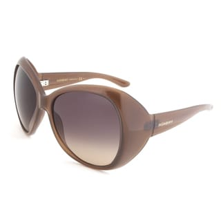 Yves Saint Laurent YSL 6357/S RLCR4 Oval Sunglasses, Brown Frame, Brown Gradient Lens
