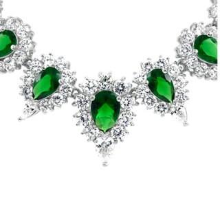 Midori's Fancy Emerald CZ Necklace