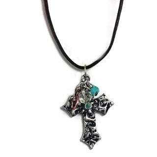 Mama Designs Handmade Turquoise Western-style Cross Necklace