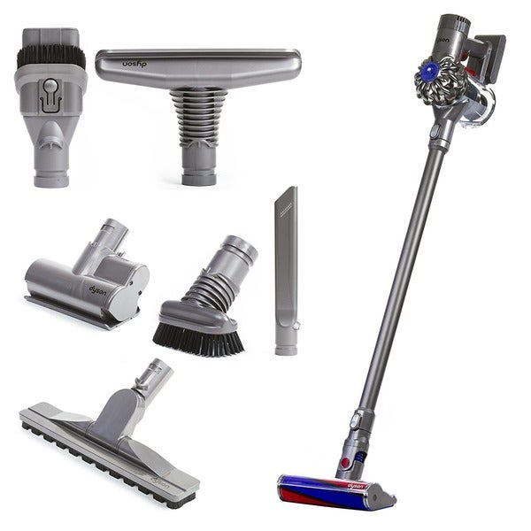 Dyson V6 Fluffy Cordless Vacuum Cleaner Attachment Tools For Hard Floors