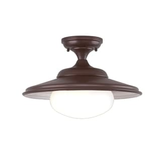 Hudson Valley Independence Old Bronze Semi Flush