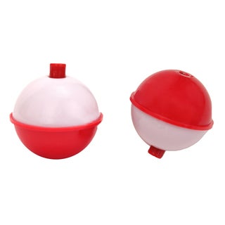 Eagle Claw Snap-On Round Floats Red/ White Size 2-inch (Per 2)