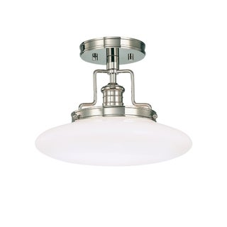 Hudson Valley Beacon Polished Nickel Semi Flush