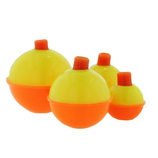 Eagle Claw Snap-On Round Floats Orange/ Yellow Assorted Sizes(Per 12)
