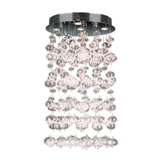 Floating Bubbles 7-light Chrome Finish and Floating Effervescence Bubble Blown Glass Flush Mount Ceiling Light