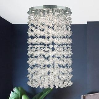 Floating Bubbles 13-light Chrome Finish and Floating Effervescence Bubble Blown Glass Flush Mount Ceiling Light