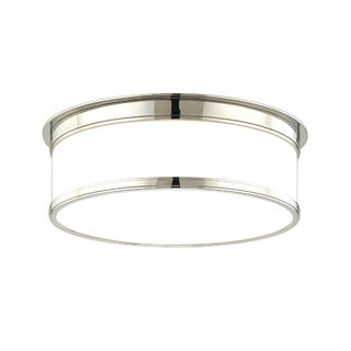 Hudson Valley Geneva 3-light Polished Nickel Flush Mount