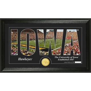 "University of Iowa ""Silhouette"" Bronze Coin Panoramic Photo Mint"