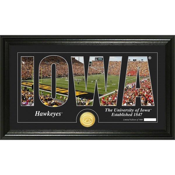 """University of Iowa """"Silhouette"""" Bronze Coin Panoramic Photo Mint"""