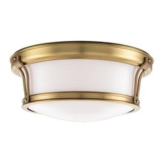 Hudson Valley Newport Flush 2-light Aged Brass Flush Mount